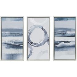 Madison Park Grey Surrounding 3-pc. Framed Canvas Wall Art