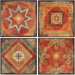 Madison Park Moroccan Tile 4-pc. Wall Art Set