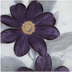 Madison Park Midnight Bloom Plum Canvas Wall Art