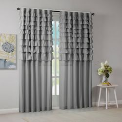 Intelligent Design Waterfall Ruched Window Panel