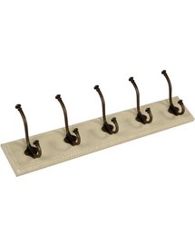 Intrade Global Antique Finish 5 Iron Hooks Wall Hook Board