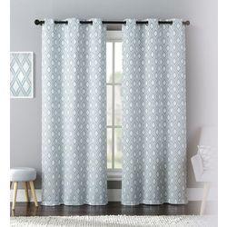 United Curtain Mystique Window Panel Pair