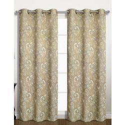 United Curtain Penelope Window Panel Pair