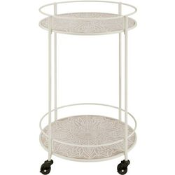 Linon Percy Medallion Rolling Cart