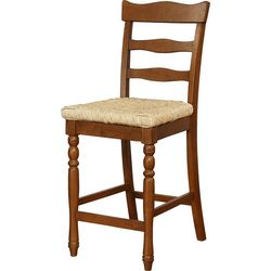 Linon Kinsey Rush Counter Height Stool