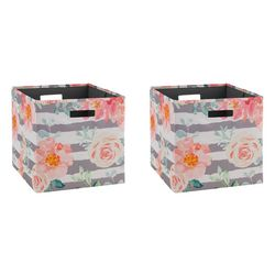 Linon 2-pk. Conrad Roses Storage Bin