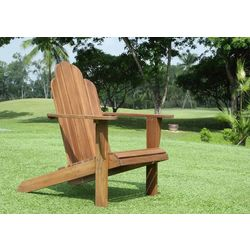 Linon Rockville Teak Finish Adirondack Chair
