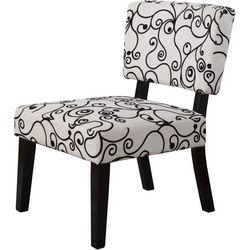Linon Sharon White & Black Accent Chair