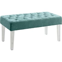 Linon Jamie Acrylic Leg Bench