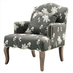 Linon Corrine Floral Arm Chair