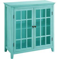 Linon Cabot Antique Double Door Cabinet