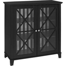 Linon Winslow Awning Stripe Large Cabinet
