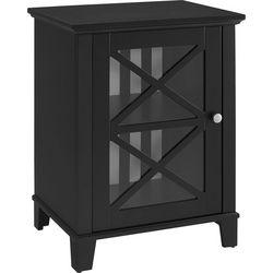 Linon Winslow Awning Stripe Small Cabinet