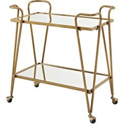 Linon Victory Gold Mid-Century Bar Cart