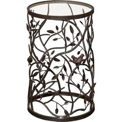 Linon Cannon Bird and Branch Accent Table