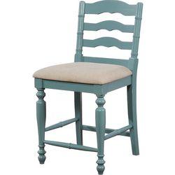 Linon Arly Antique Blue Counter Stool