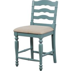 Arly Antique Blue Counter Stool