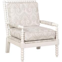 Sutton Beige Spindal Wood Frame Chair