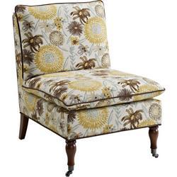 Callie Floral Pillow Top Slipper Chair
