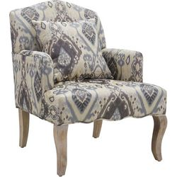 Linon Ira Ikat Accent Arm Chair