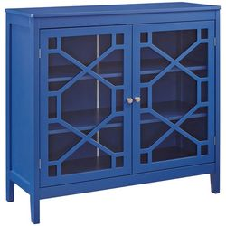 Linon Troy Blue Large Cabinet
