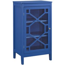 Linon Troy Blue Small Cabinet