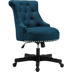 Linon Tate Azure Blue Office Chair