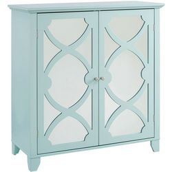 Linon Lovell Large Cabinet with Mirror Door