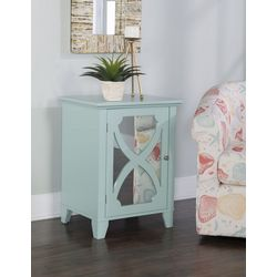 Linon Lovell Small Cabinet with Mirror Door