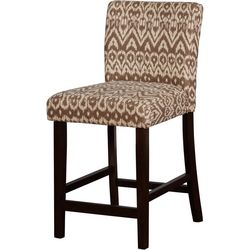 Linon Orson Ikat Coconut Counter Height Stool