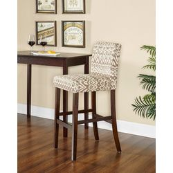 Linon Orson Ikat Coconut Bar Height Bar Stool