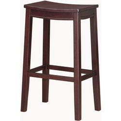 Linon Kieran Wood Bar Saddle Stool