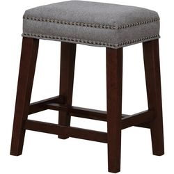 Linon Jacobs Grey Counter Height Stool