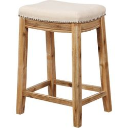 Linon Carson Acacia Counter Height Stool