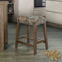 Linon Mossy Oak Nativ Living Backless Counter Height Stool