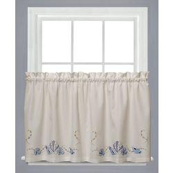 Saturday Knight Seabreeze Tier Curtain Panel Set