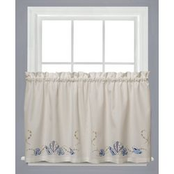 Saturday Knight Seabreeze Tier Curtain Panel Set