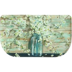 Bacova Blossoms In A Jar Memory Foam Slice Mat