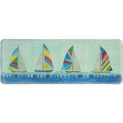Bacova Rainbow Sailboats Memory Foam Runner