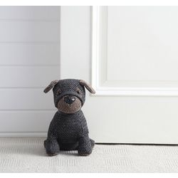 Henry The Herringbone Dog Door Stopper