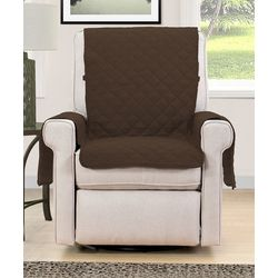 Blissful Living Brown Reversible Chair Cover