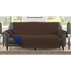 Blissful Living Brown Reversible Sofa Cover