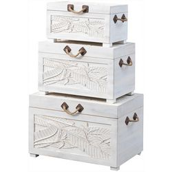 Coast To Coast 3-pc. Palm Leaf Nesting Trunks