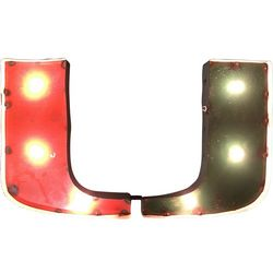 Miami Hurricanes Recycled Metal Illuminated Wall Decor