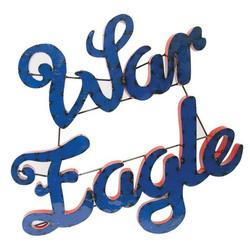 War Eagle Recycled Metal Wall Decor