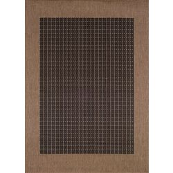 Couristan Black Checkered Area Rug