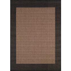 Couristan Cocoa Checkered Area Rug