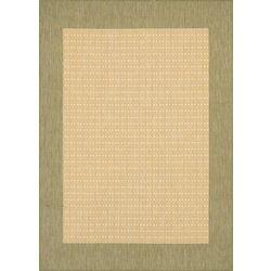 Couristan Green Checkered Area Rug