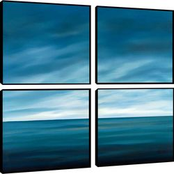 Ocean Blue Quadriptych Wall Art Set