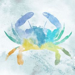 PTM Images Watercolor Crab Canvas Wall Art